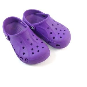 CROCS purple with strap